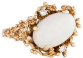 Ring 14K Opal & Diamond