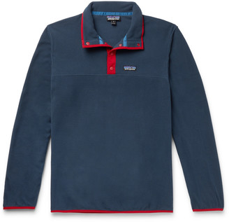 Patagonia Snap-T Nylon-Trimmed Micro D Fleece Pullover