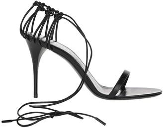 Saint Laurent Lexi Wrapped Ankle Tie Sandals