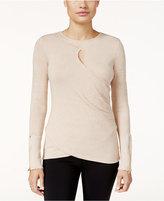 Thalia Sodi Metallic Keyhole Sweater, Only at Macy's