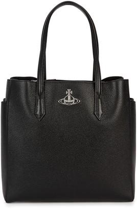 Vivienne Westwood Johanna large black leather tote