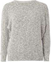 Dorothy Perkins Grey Split Sleeve Jersey Knitted Top
