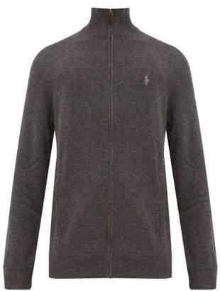 Polo Ralph Lauren Zip Through High Neck Wool Sweater - Mens - Grey