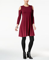 Style&Co. Style & Co Cold-Shoulder A-Line Dress, Created for Macy's
