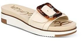 Sam Edelman Women's Ariane Slip On Buckled Wedge Sandals
