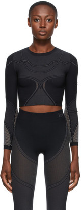 Wolford Black Zen Cropped Long Sleeve Top