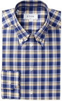 Eton Plaid Slim Fit Dress Shirt