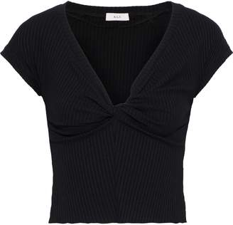 A.L.C. Sabina Twist-front Ribbed-knit Top