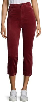 J Brand Ruby High-Rise Velvet Pants