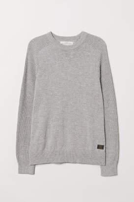H&M Fine-knit Cotton Sweater - Gray