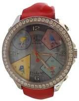Jacob & co 5 Time Zone 40mm Quartz Watch 5 straps