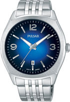 Pulsar Men's Traditional Silver-Tone Watch PS9487
