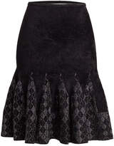 Roland Mouret Midi Skirt with Metallic Thread