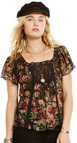 Denim & Supply Ralph Lauren Floral Lace-Bib Boho Top