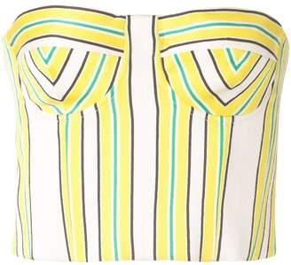 Alexis Summer striped bustier top
