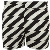 Frescobol Carioca Pepe Zigzag-print Technical Swim Shorts - Mens - Black