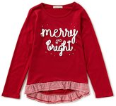 Copper Key Little Girls 2T-6X Christmas Merry And Bright Tunic Top