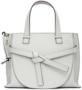 Loewe White Small Gate Top Handle Bag