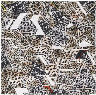 Preen by Thornton Bregazzi Leopard Print Geometric Scarf