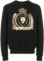 Billionaire lion crest emblem sweatshirt - men - Cotton - L