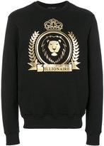 Billionaire lion crest emblem sweatshirt - men - Cotton - M
