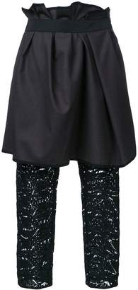 Kolor layered draped trousers