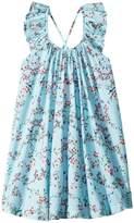 Seafolly Blue Birds Garden Frill Dress Cover-Up Girl's Swimwear