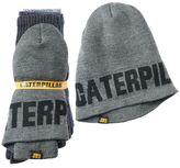 Caterpillar Men's 3-Pack Crew Socks & Hat Bundle