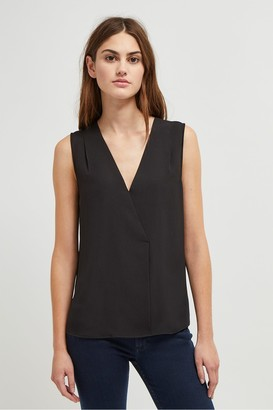 French Connection Crepe Light Crossover Top