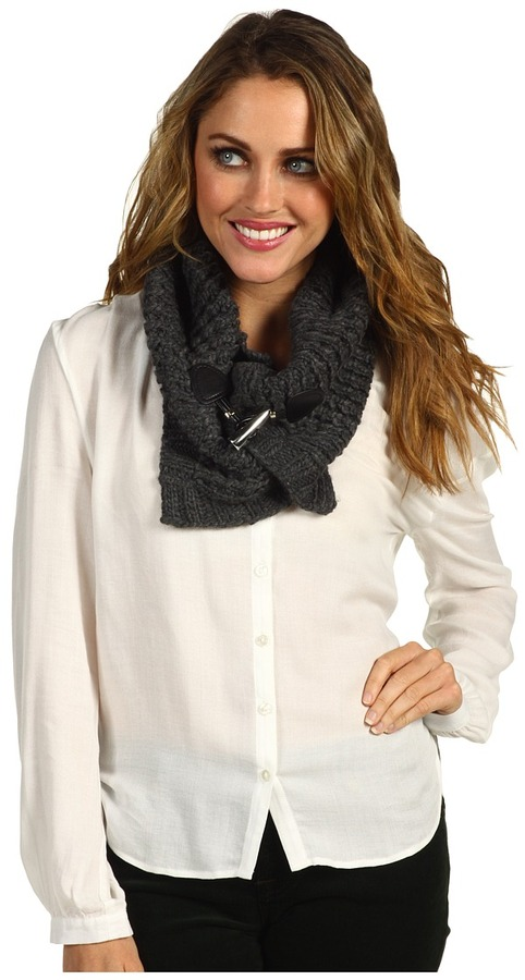 MICHAEL Michael Kors Michael Kors Neckwarmer with Toggle (Derby/Black) - Accessories