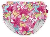 I Play Snap Butterfly Swim Diaper in Hot Pink