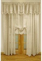 Commonwealth Commonwealth Hathaway Tailored Curtain Panel, Cream, Faux Silk, 54W x 84L in.