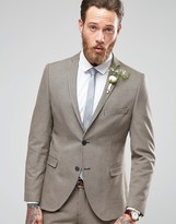 Selected Houndstooth Wedding Suit Jacket with Stretch