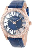 Kenneth Cole New York Women's KC2757 Transparency Gold Case Transparent Dial Watch