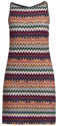 Missoni Scalloped Chevron Knit Shift Dress