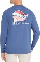 Vineyard Vines Santa Whale Long Sleeve Pocket Tee