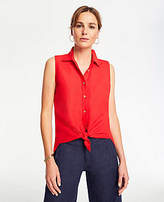 3e71a60e Sleeveless Button Down Shirt - ShopStyle