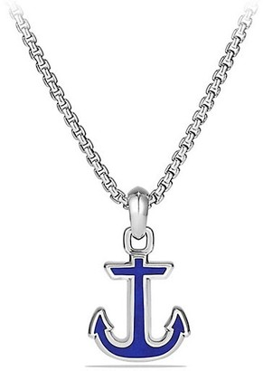 David Yurman Maritime Gemstone & Sterling Silver Anchor Pendant