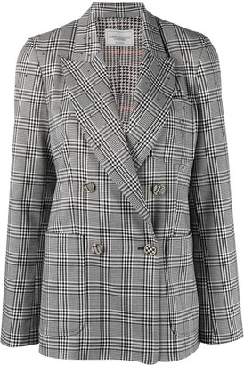 Forte Dei Marmi Couture Checked Double Breasted Blazer