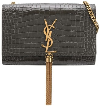Saint Laurent Kate crocodile-effect crossbody bag