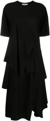Enfold Layered Drape Dress