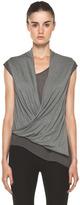 Helmut Lang Soft Wool Tee Top in Light Rosewood