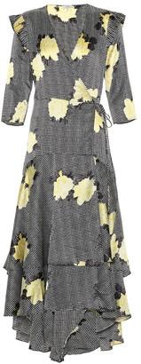 Ganni Calla floral silk-blend dress