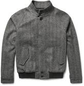 Tod's - Herringbone Virgin Wool-blend Bomber Jacket