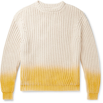 Jacquemus Degrade Ribbed-Knit Cotton Sweater
