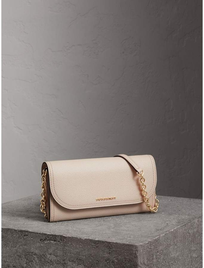 Burberry Leather Wallet with Chain