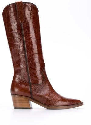 Via Roma 15 Cocco croc-effect boots