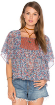 Twelfth Street By Cynthia Vincent Printed Scarf Sleeve Top