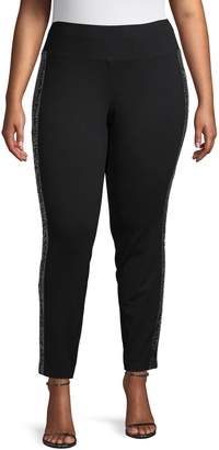 INC International Concepts Plus Ponte Skinny-Fit Pants