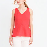 J.Crew Factory Petite linen-cotton peplum tank top